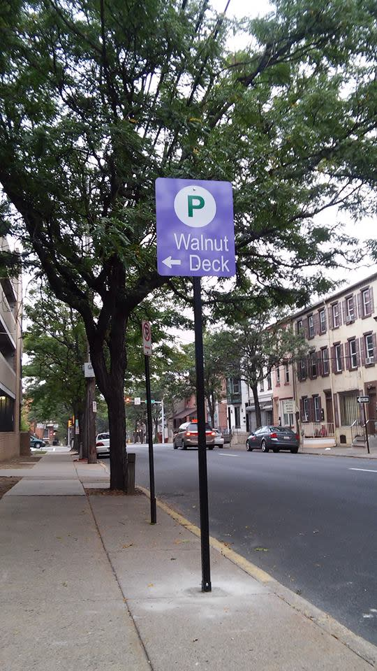 Look for wayfinding signs to help direct you to your lot