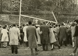 In 1943 Lehigh students tore down the goalposts after a 7-7 tie in Easton