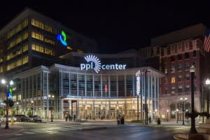 PPL Center adjacent to Renaissance Hotel in Allentown