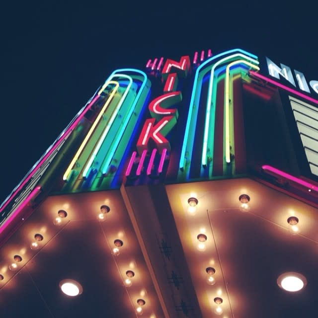 The new marquee at Nickelodeon Theatre in Columbia, SC