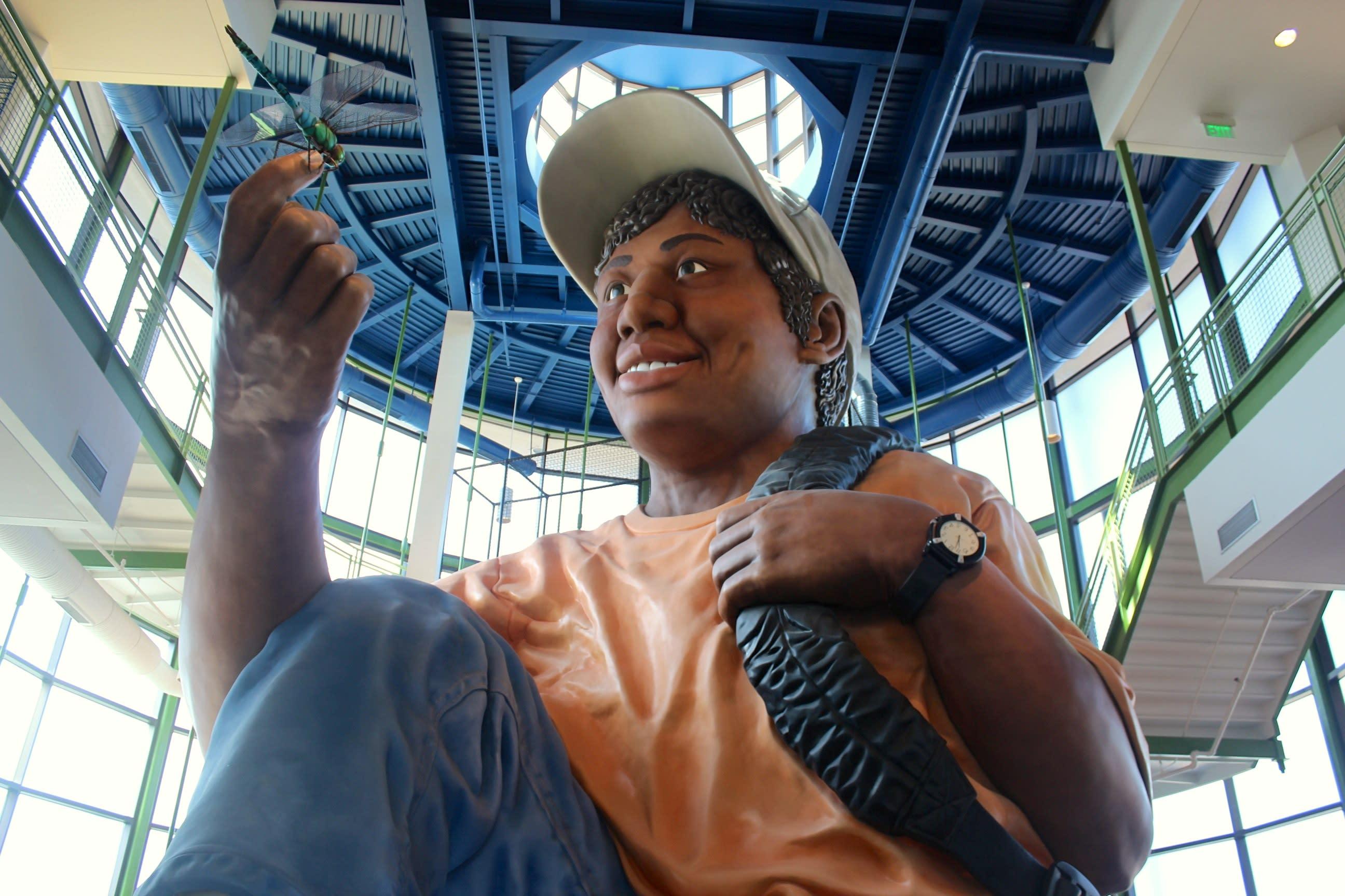 Eddie the giant child at EdVenture Children's Museum