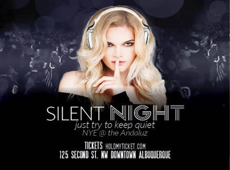 Silent Night New Year's Eve Party at Hotel Andaluz in Albuquerque