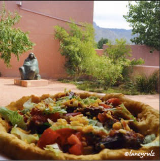 Pizza at the Indian Pueblo Cultural Center in Albuquerque