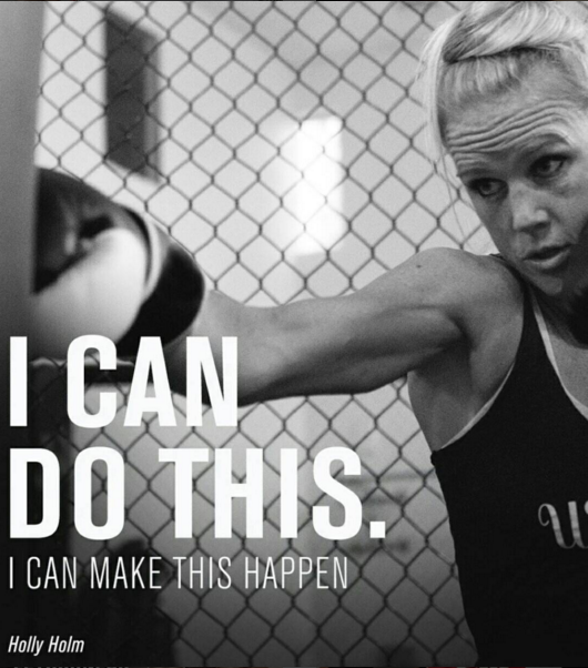 MMA fighter Holly Holm trains to take on Ronda Rousey