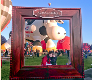 Take your photo inside the giant Albuquerque frame at Balloon Fiesta!