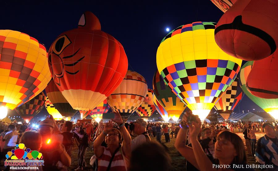 Balloon Glow at the Albuquerque International Balloon Fiesta