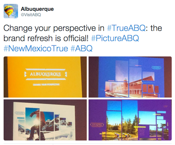 Tweet from Albuquerque brand refresh