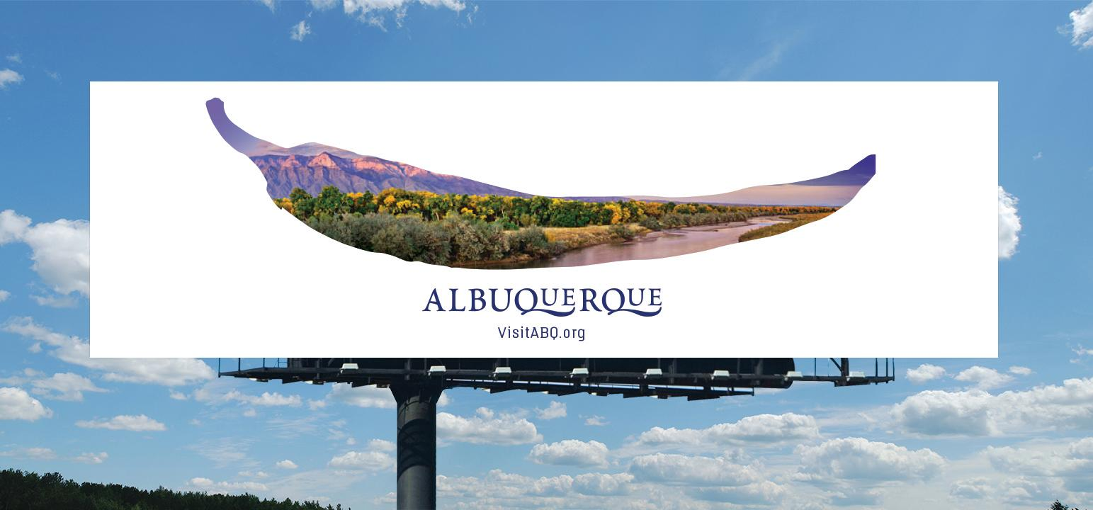 Chile billboard from Albuquerque brand refresh