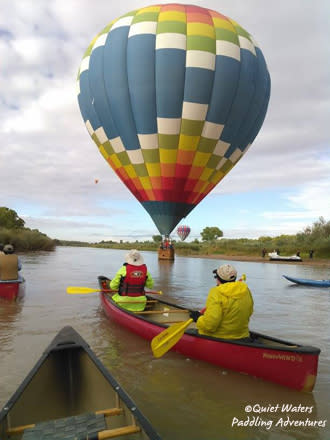 Quiet Waters Paddling Adventures, Balloon Fiesta, Albuquerque