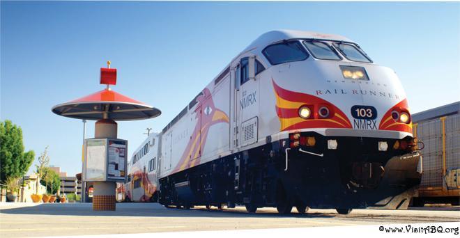 New Mexico Rail Runner express train in Albuquerque