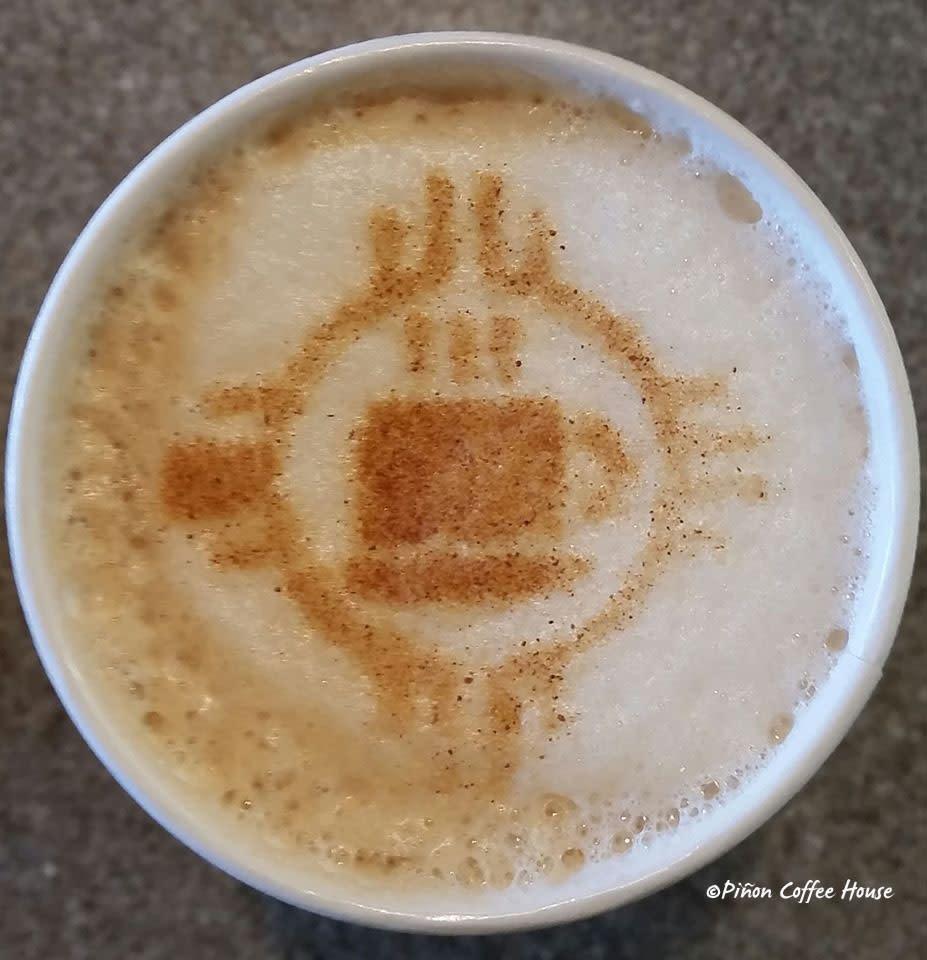 New Mexico Piñon Coffee House Biscochito Latte