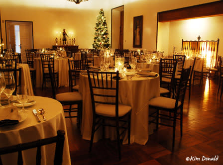 New Year's Eve dinner tables at Los Poblanos, ©Kim Donald
