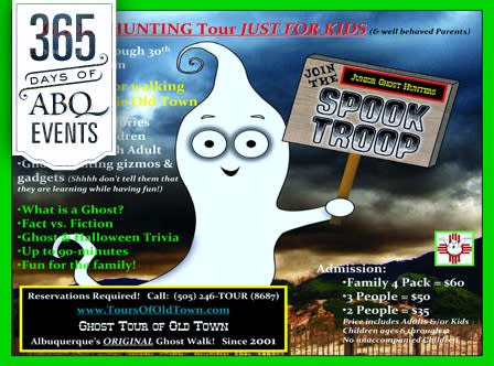 The Spook Troop-Junior Ghost Hunting Tour of Old Town - VisitAlbuquerque.org