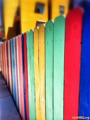 Colorful Fence VisitABQ.org