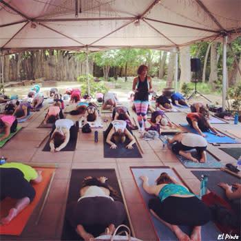 Yoga at El Pinto Restaurant