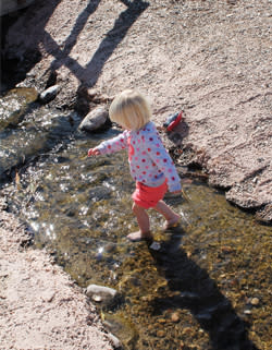 Stream at Tingley Beach in Albuquerque, New Mexico