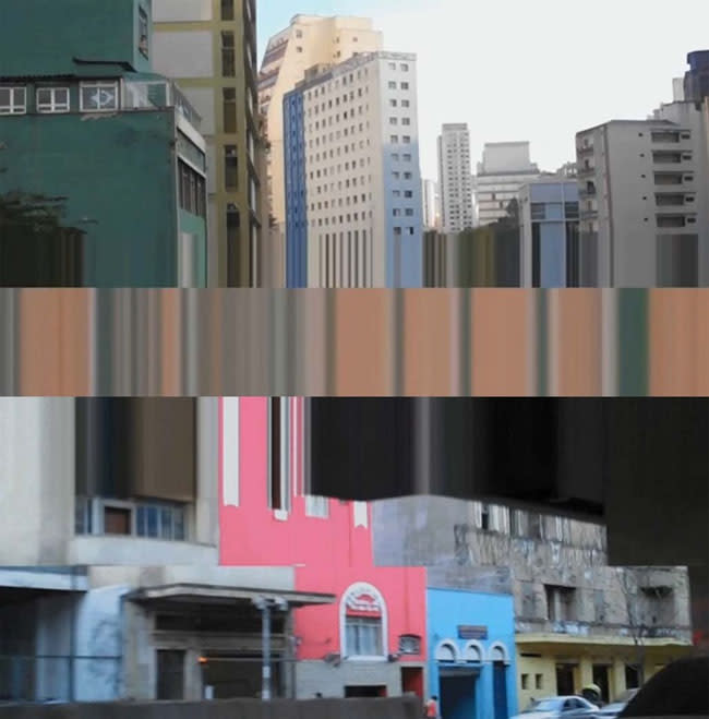 Giselle Beiguelman's work Cinema Lascado (Chipped Movies), uses both hi and lo-tech approaches to both create and complicate the perceptions of the urban landscape in São Paulo, Brazil.