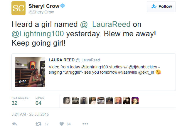 Sheryl Crow tweet