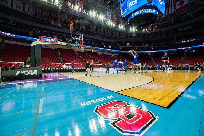 NCAA Basketball open practice