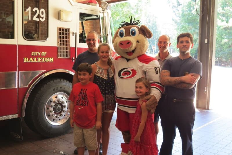 PNC Arena and Carolina Hurricanes at Fire Fighter Station #18