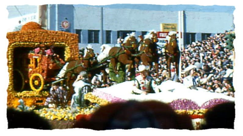 Roy Rogers and Dale Evans in the 1956 Rose Parade