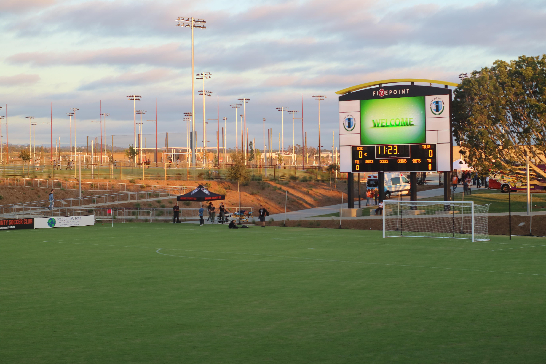 Soccer Field Scoreboard