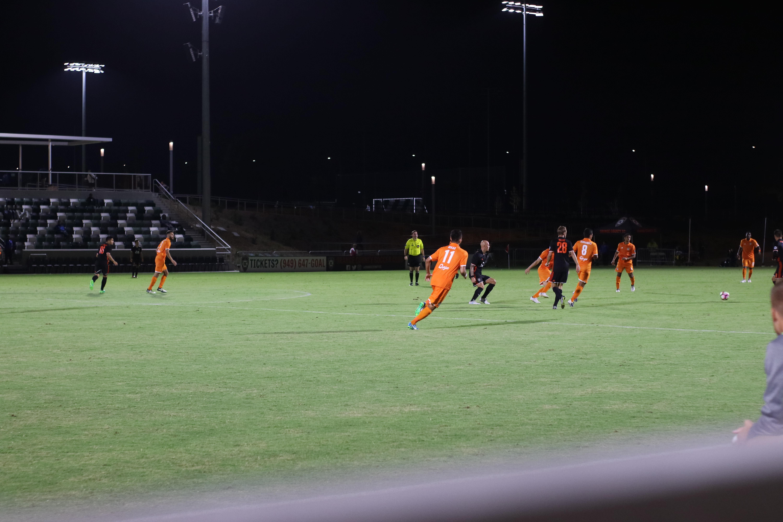 Soccer match in progress