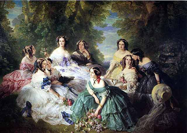 Empress Eugenie and the Ladies of her Court by Franz Xaver Winterhalter