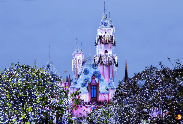 Winter at Disneyland Castle