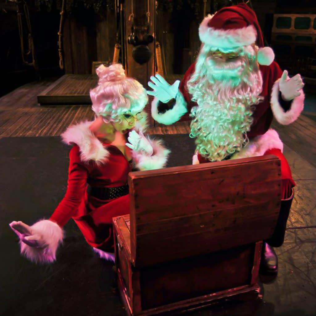 Santa opening a treasure chest