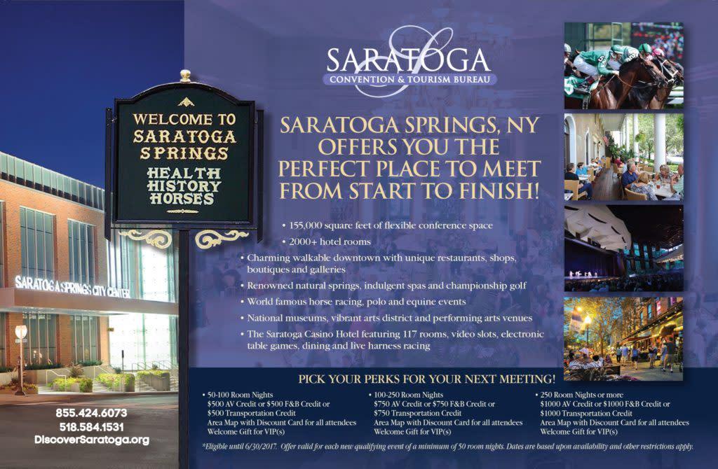 saratoga meeting promo