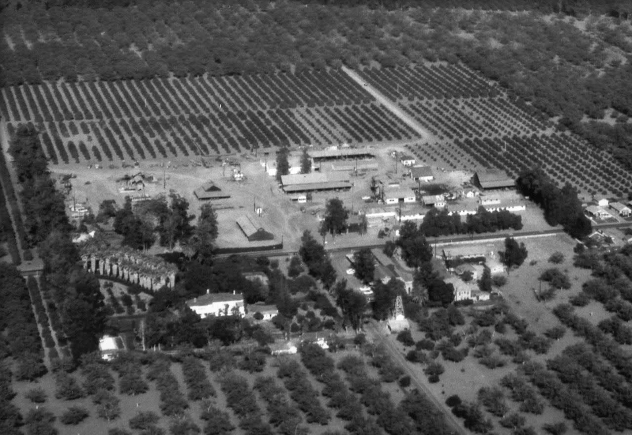 Irvine Ranch Historic park aerial view