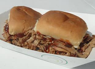 Bub's BBQ DeMotte pulled pork sandwiches