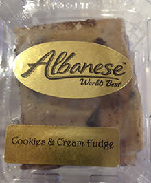 Cookies & Cream Fudge from Albanese