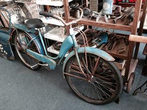 Antique bike at M&M Enterprises, Kentland