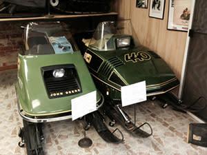 Antique John Deere snowmobiles