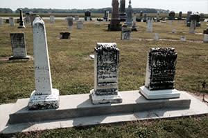 Centuries-old gravestones at Pleasant Grove Cemetery