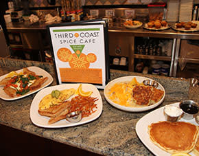 Delicious breakfast options at Third Coast, Chesterton