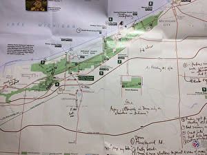 Simonne's Indiana Dunes map
