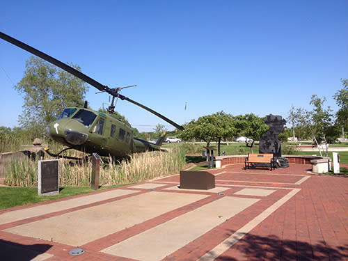 Community Veterans Memorial helicopter