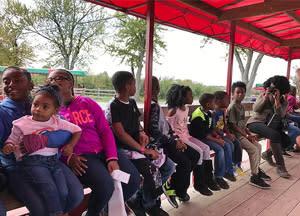 Rucker family on the hayride