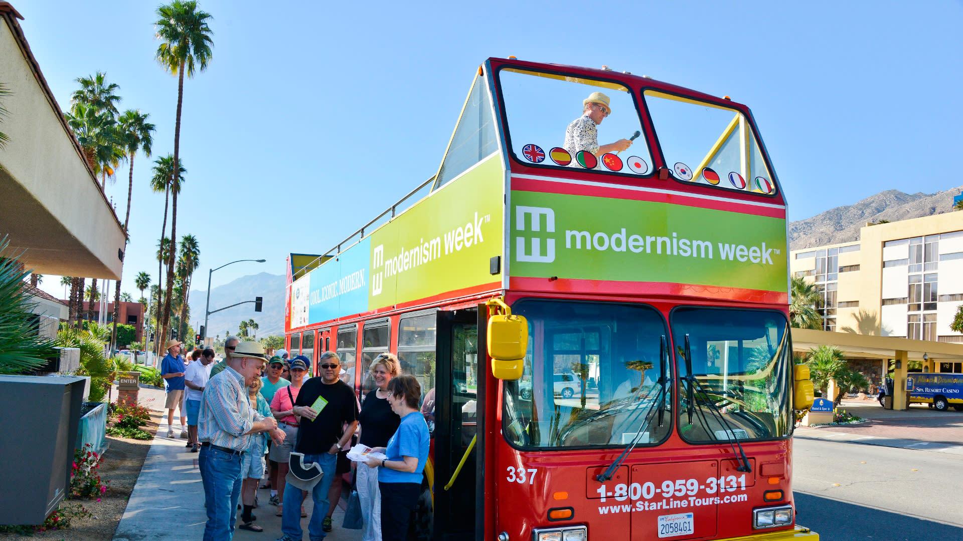 modernism week bus