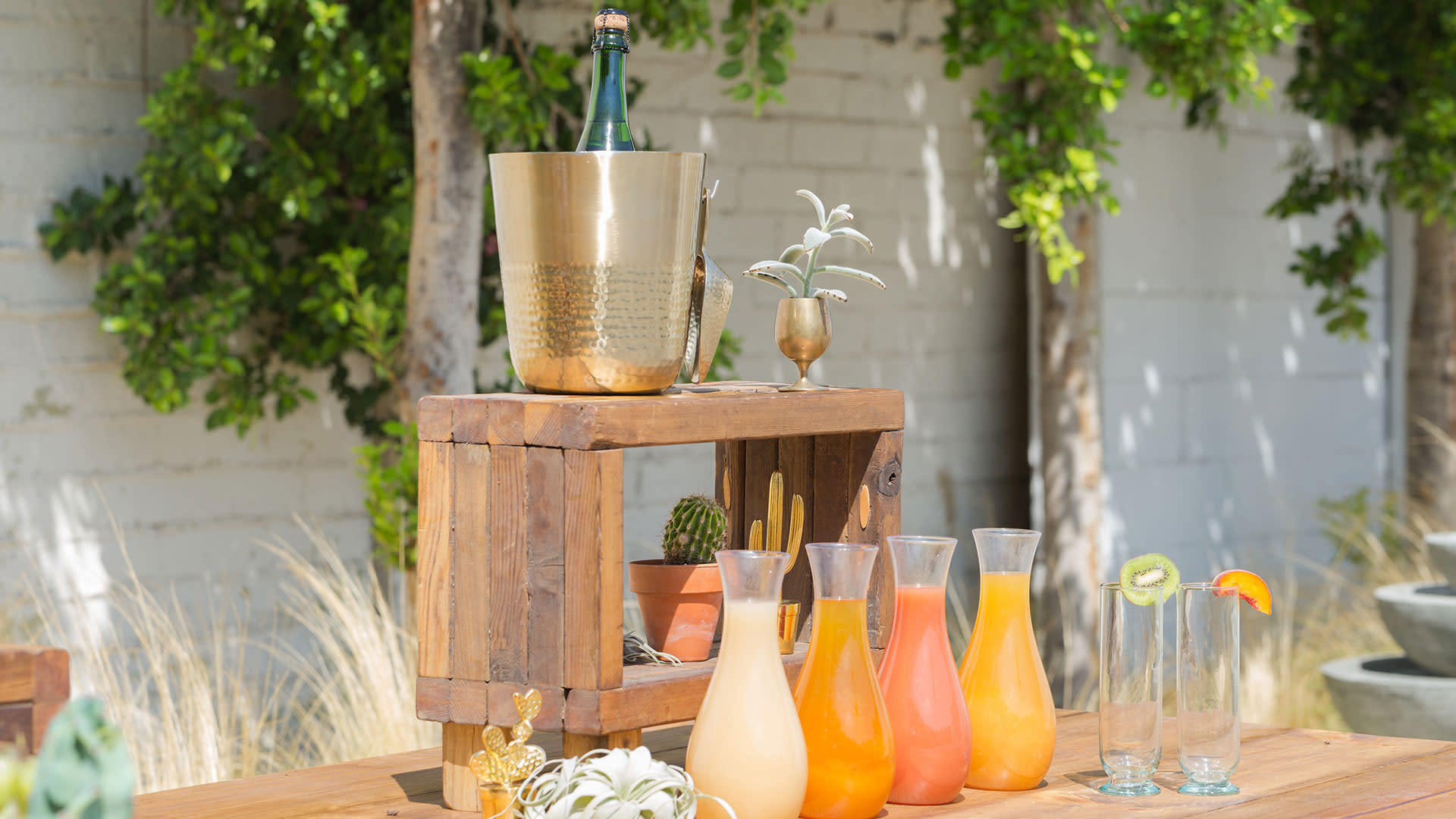 greater palm springs birthday party mimosa bar