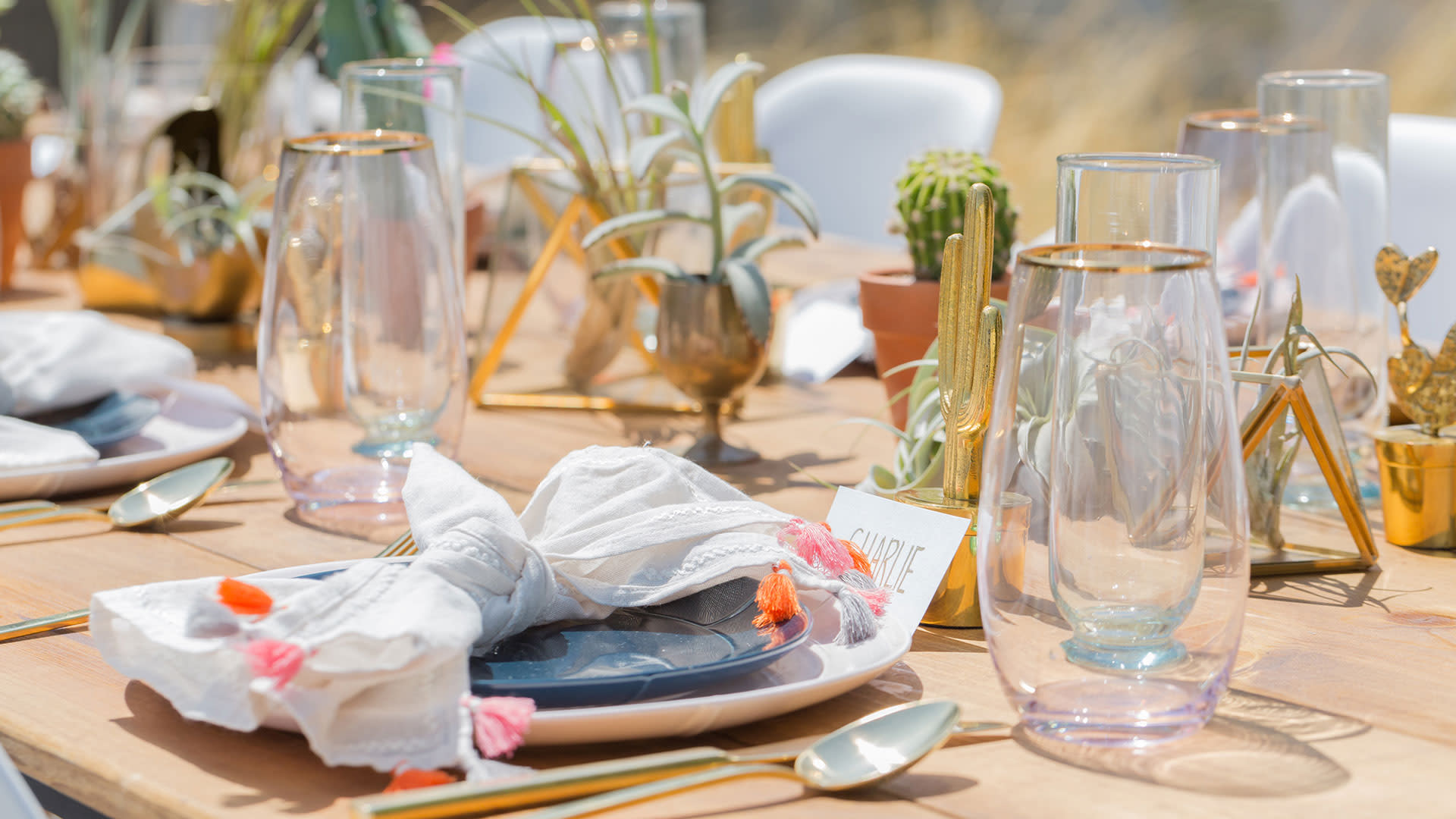 greater palm springs birthday party place settings