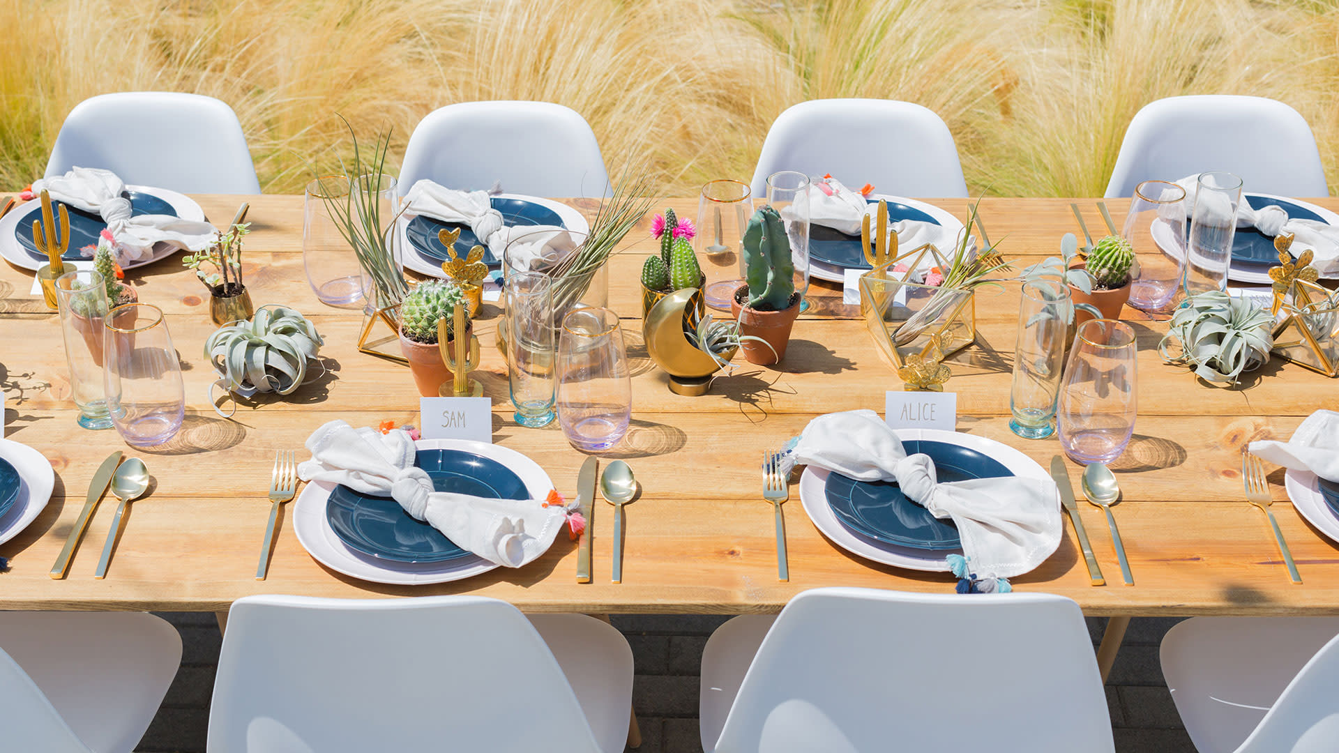 greater palm springs birthday party place setting