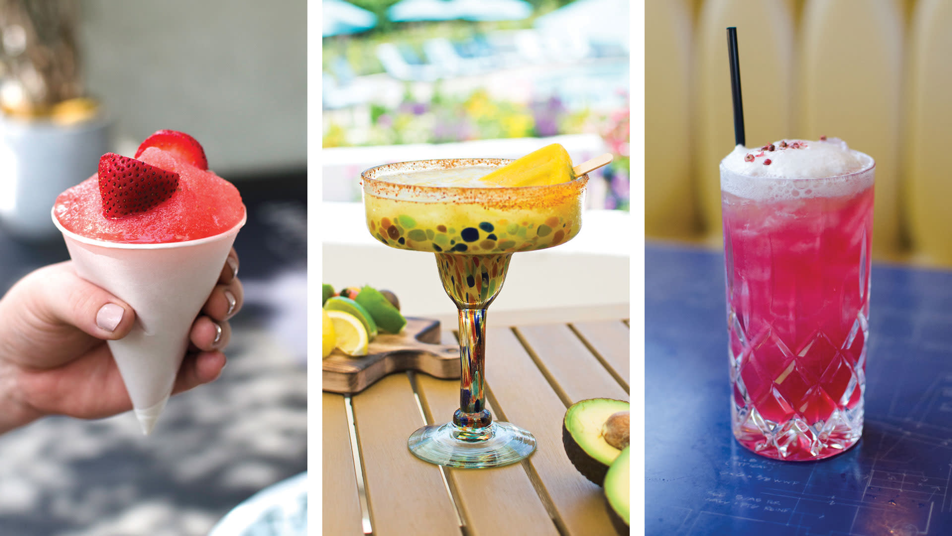 summer cocktails in palm springs