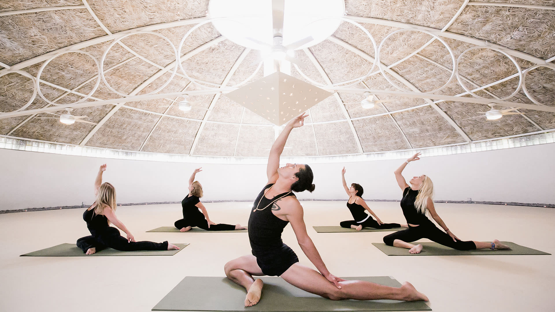 yoga at two bunch palms