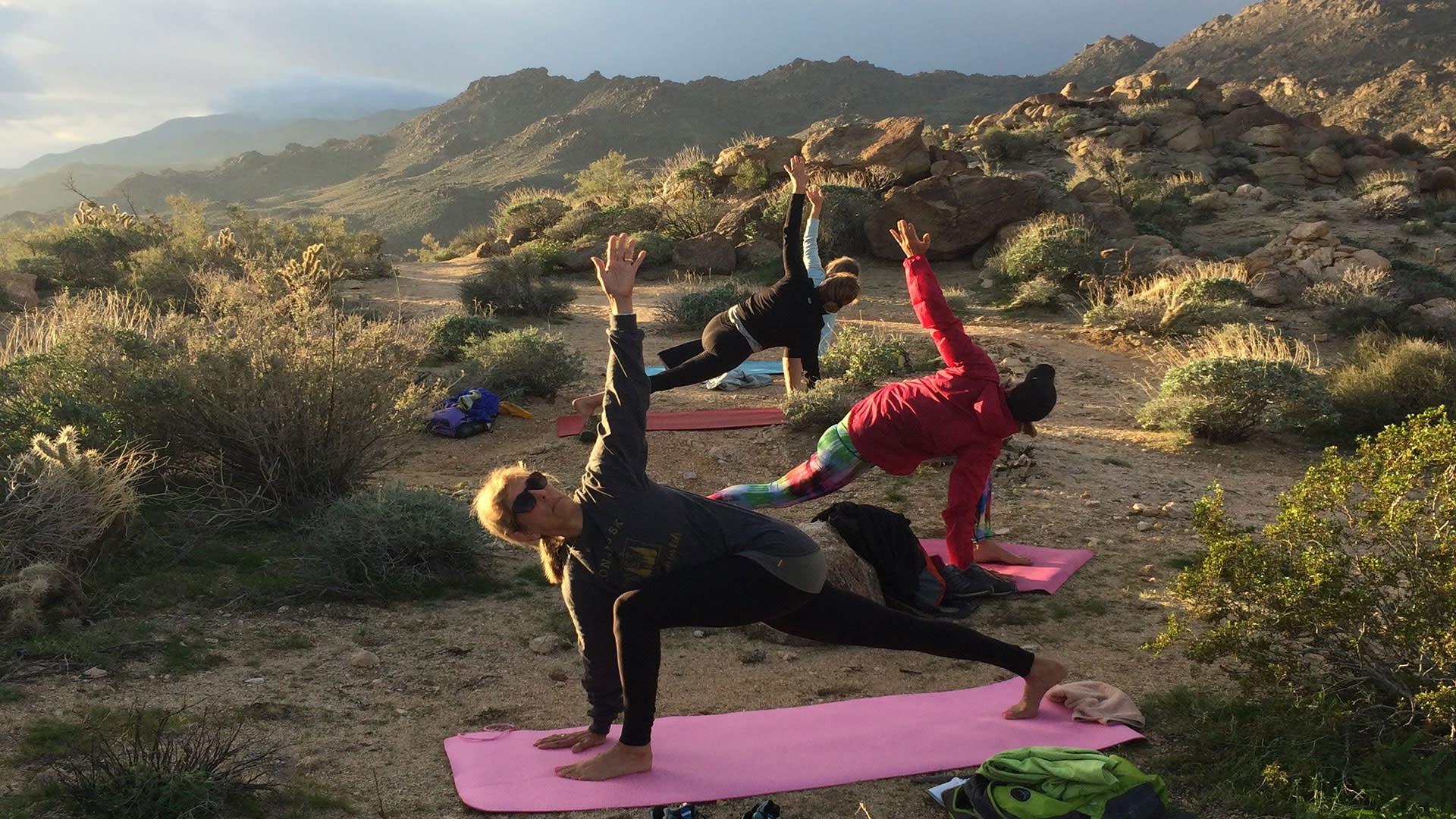 yoga hiking