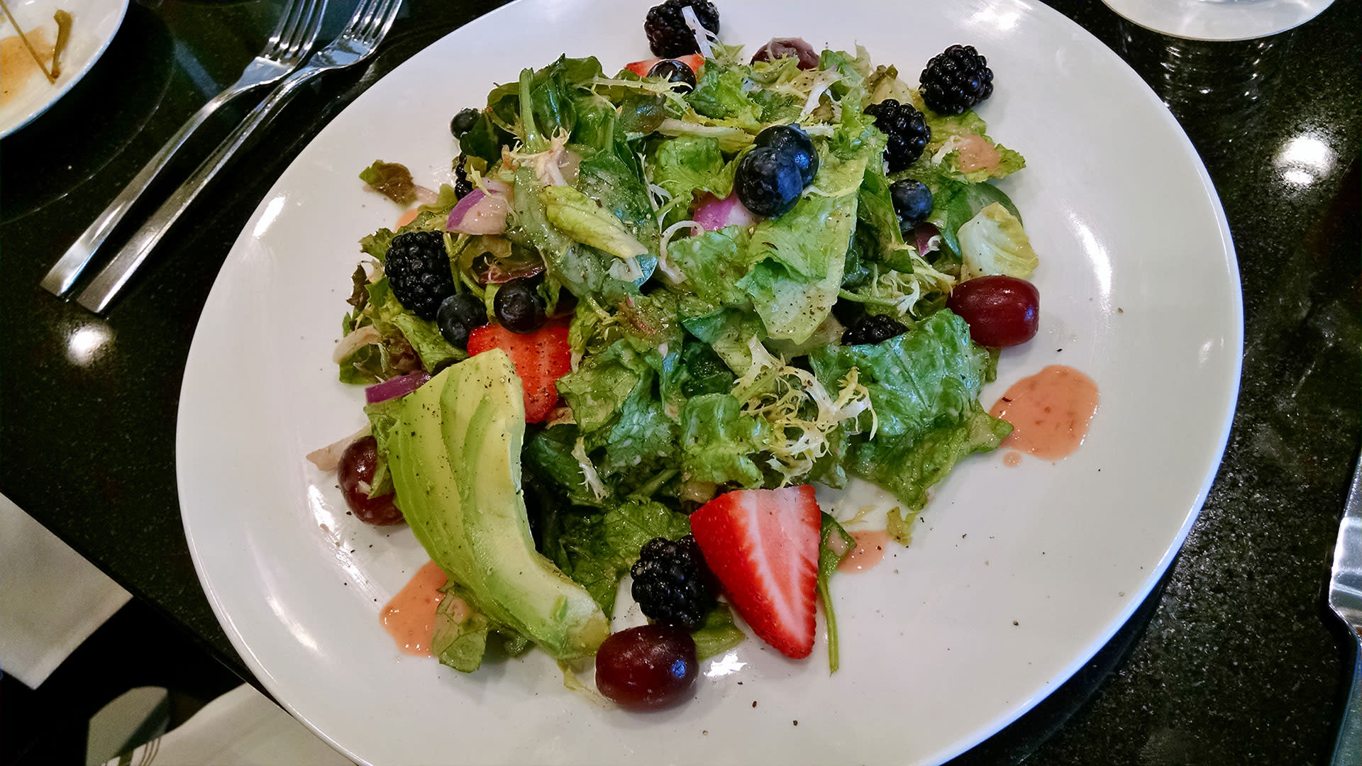 june hills table local berry salad