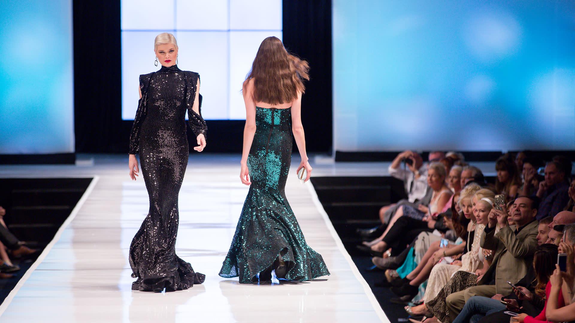 designs on the runway at fashion week el paseo